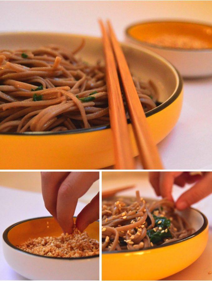 Sesame soba noodles