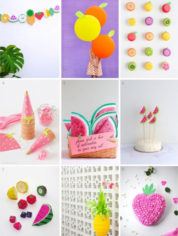 9 fabulous fruit themed summer party ideas