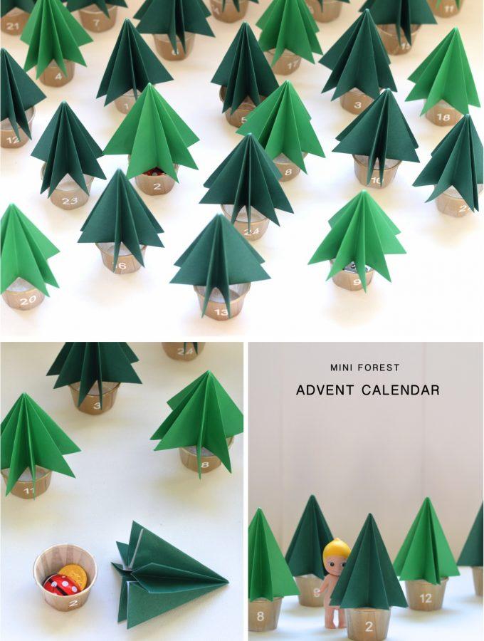 DIY Mini Forest Advent Calendar