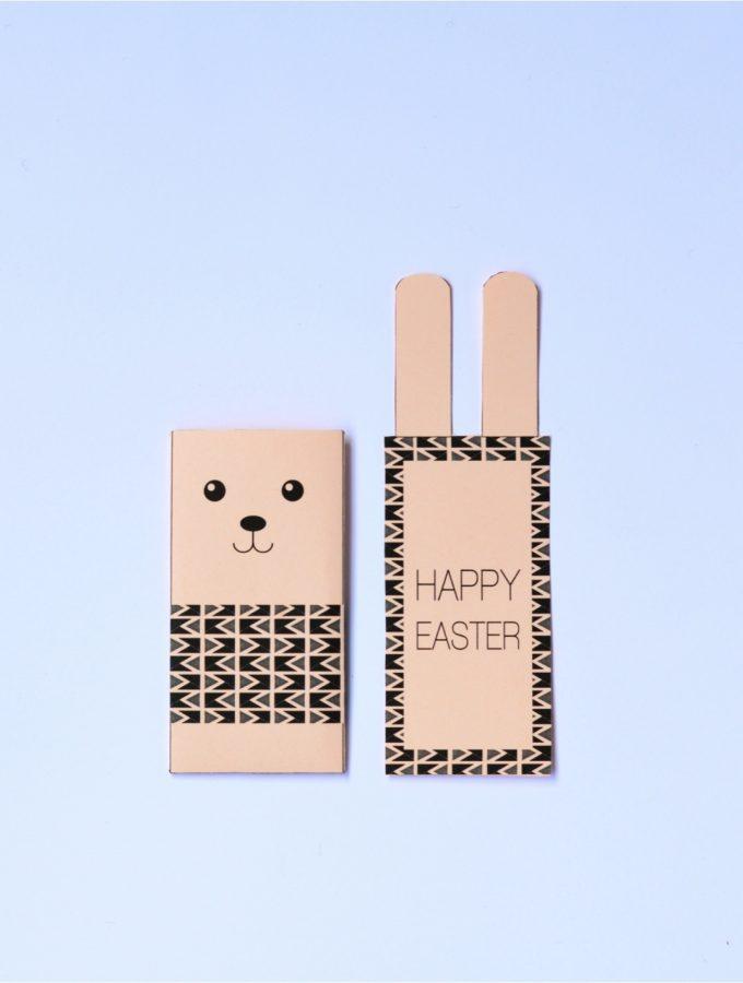 Free printable Easter Bunny card