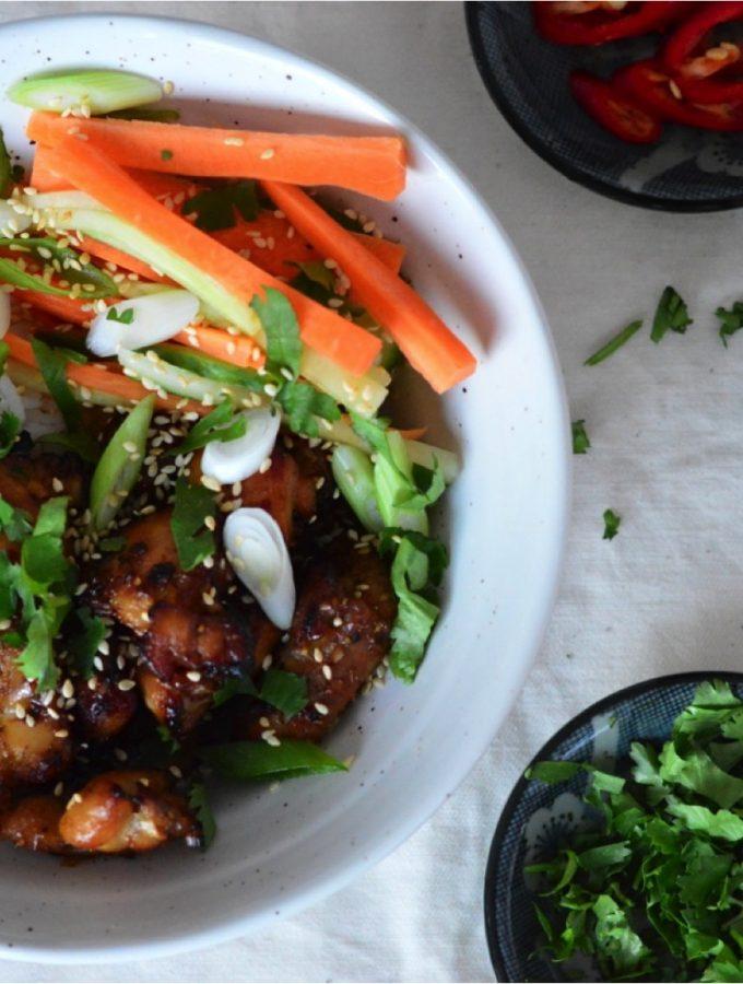 Vietnamese grilled chicken & rice bowl