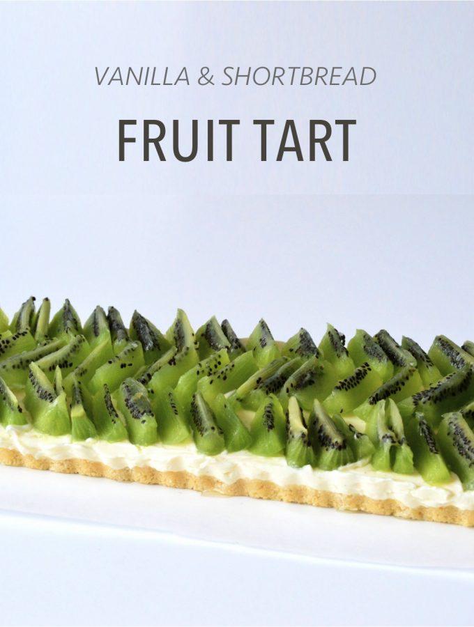 Easy and delicious no bake vanilla fruit tart