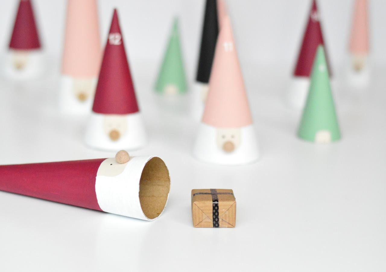 DIY advent calendar santa