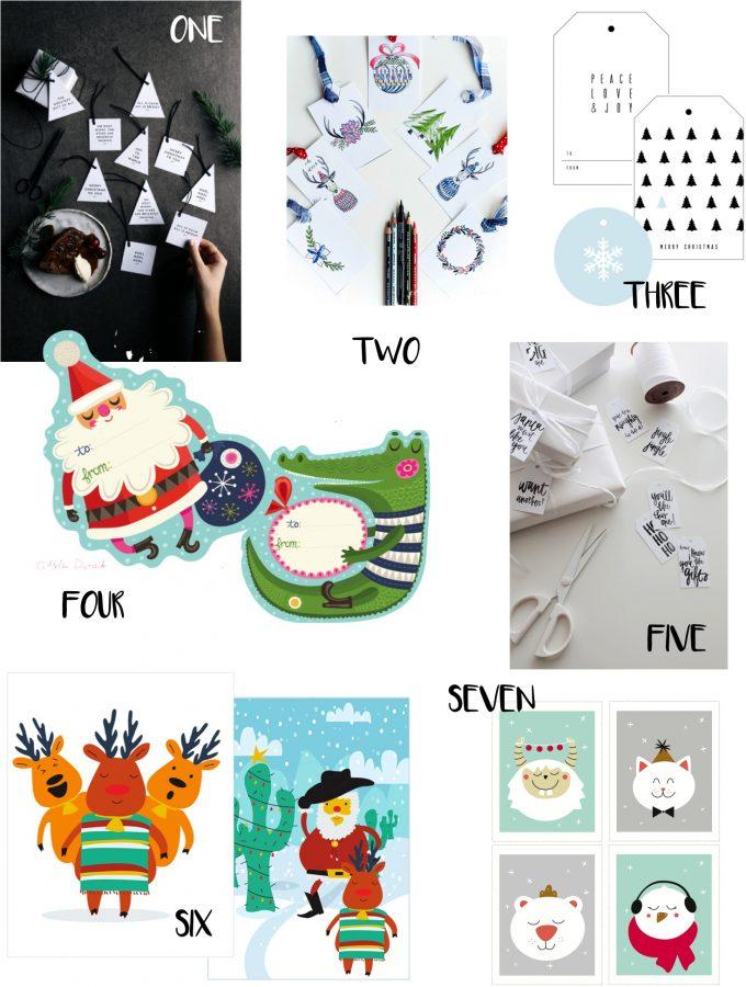 Free Christmas gift tags to print 2015
