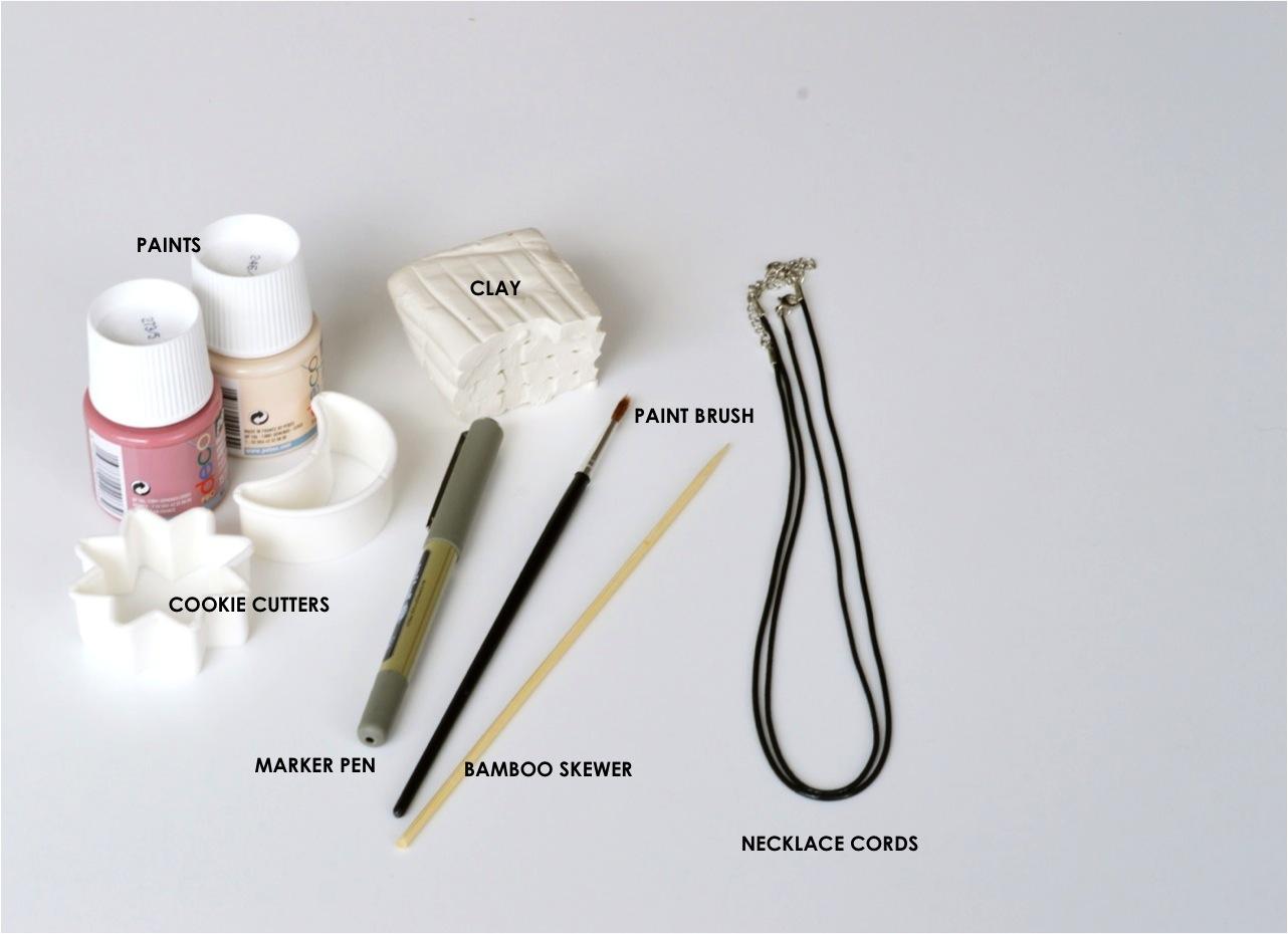 DIY clay necklace pendants