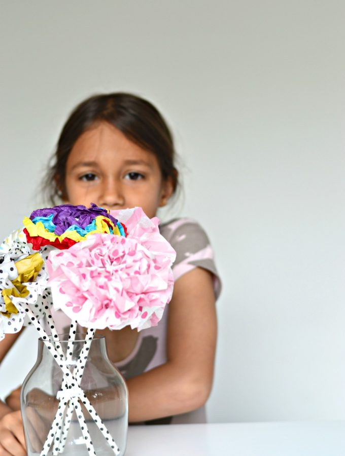 How to make tissue paper flowers (with video!)