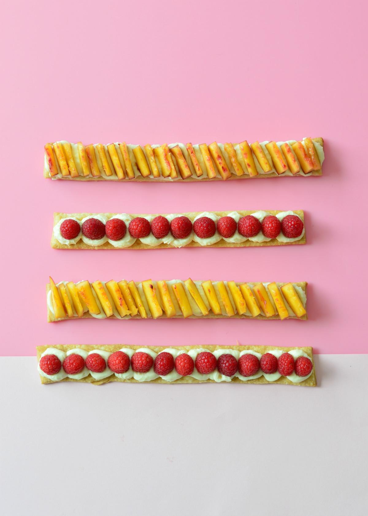 shortcrust pastry fruit slices