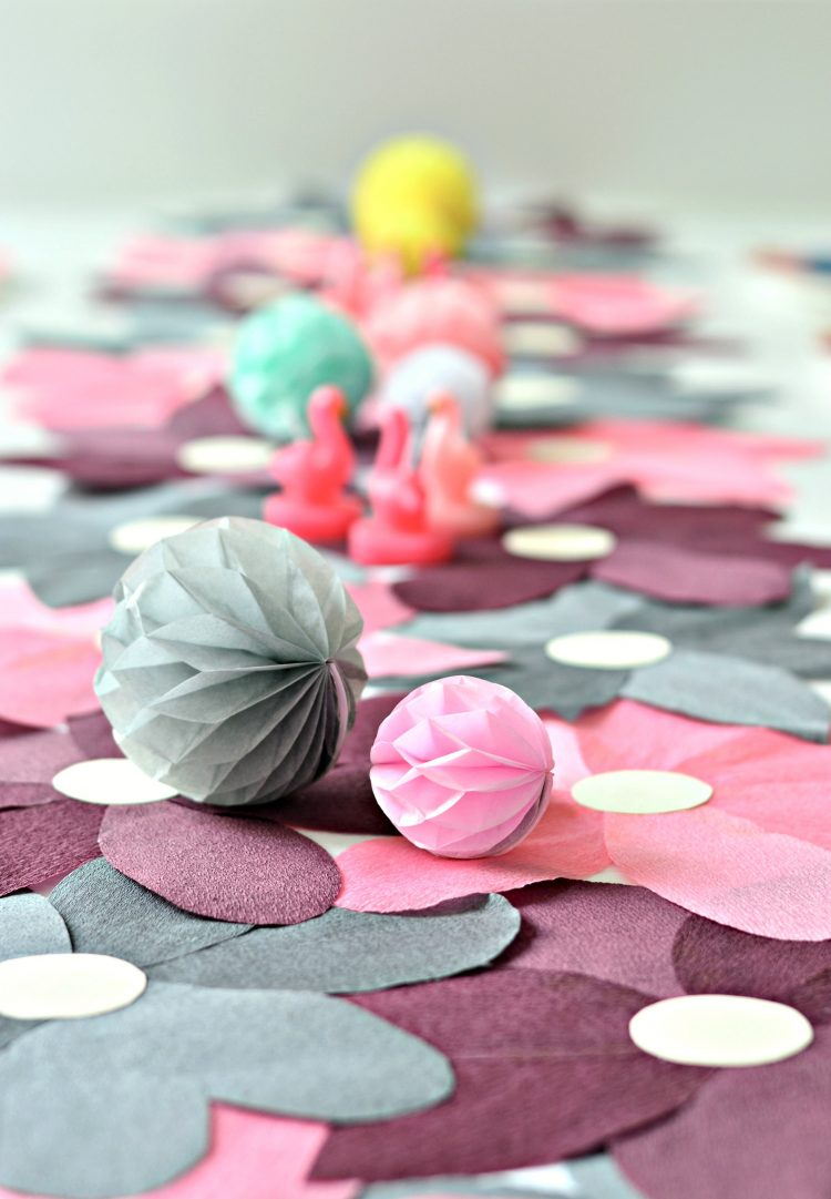 flower power  diy crepe paper table runner