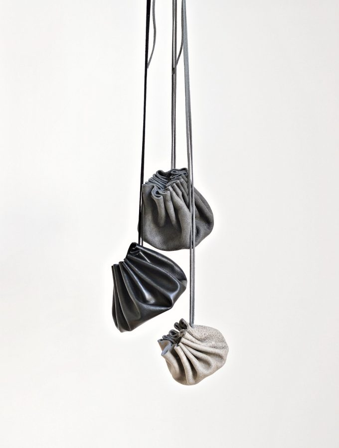 Leather drawstring pouch diy