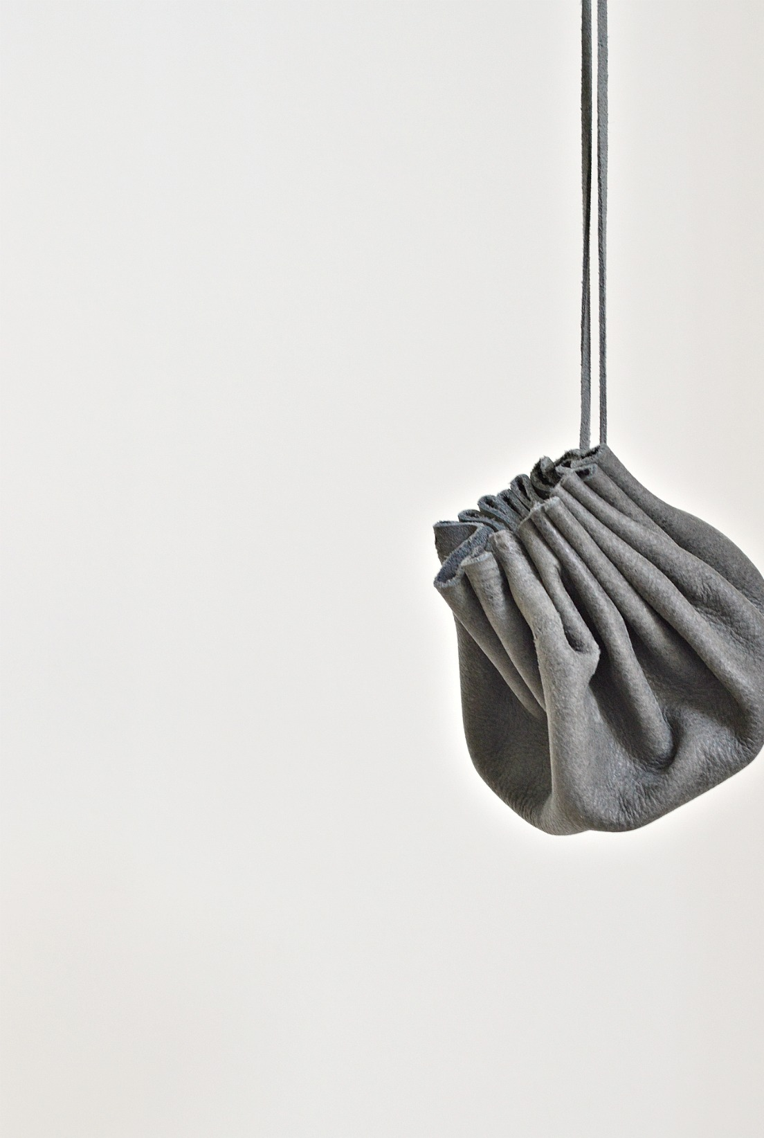 real leather drawstring pouch diy