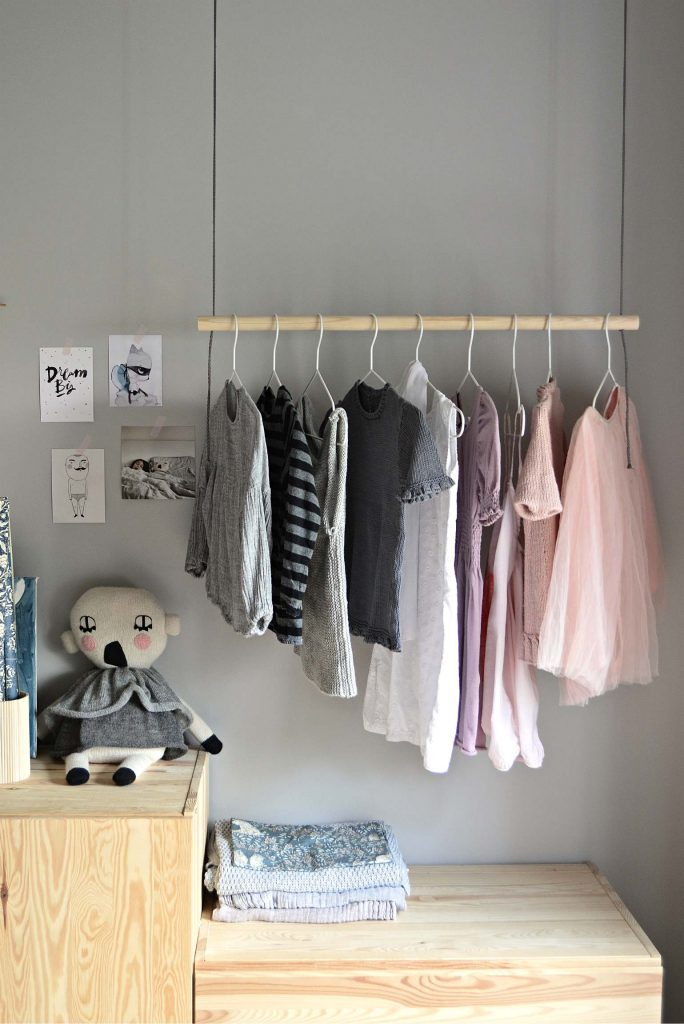 hang    diy hanging clothes rack diy home