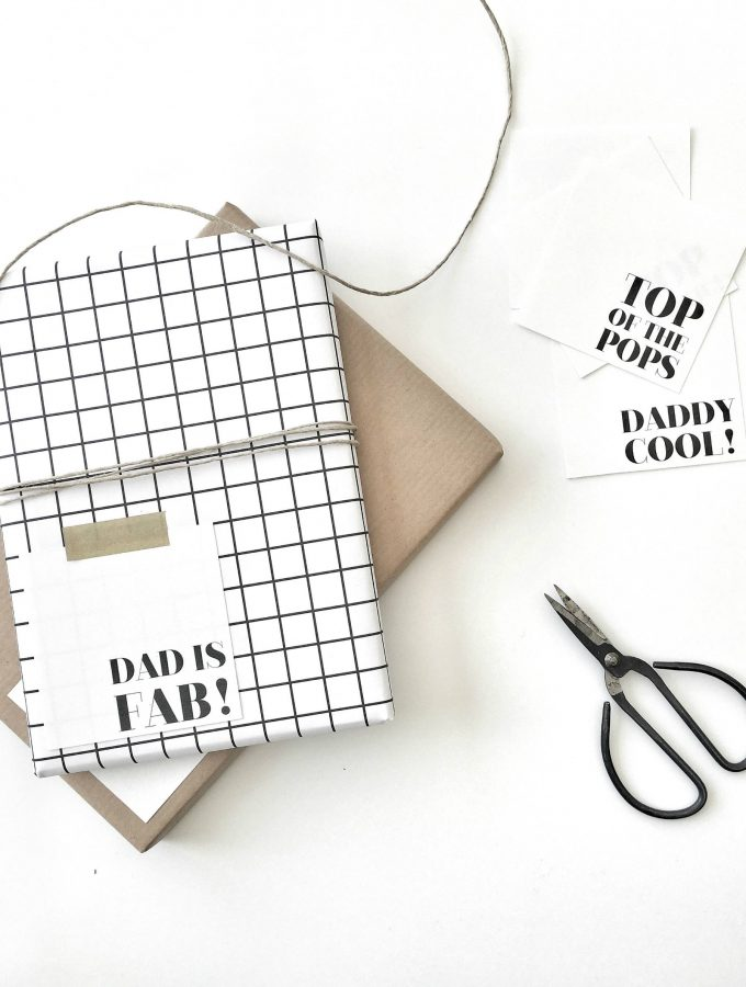 minimal Fathers Day cards that you can print