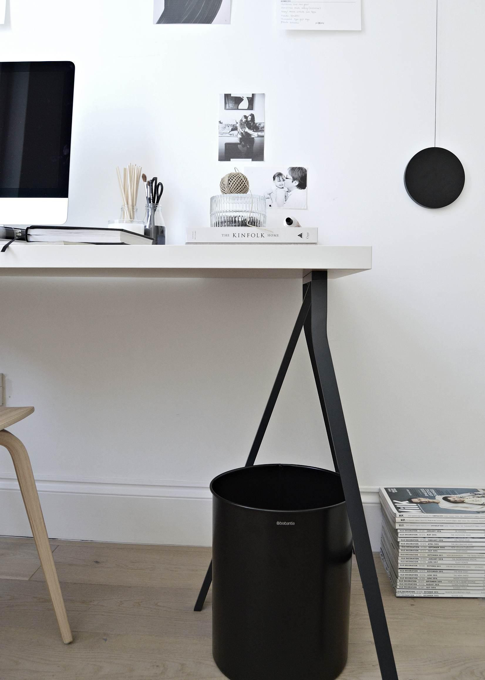 under desk waste paper bin