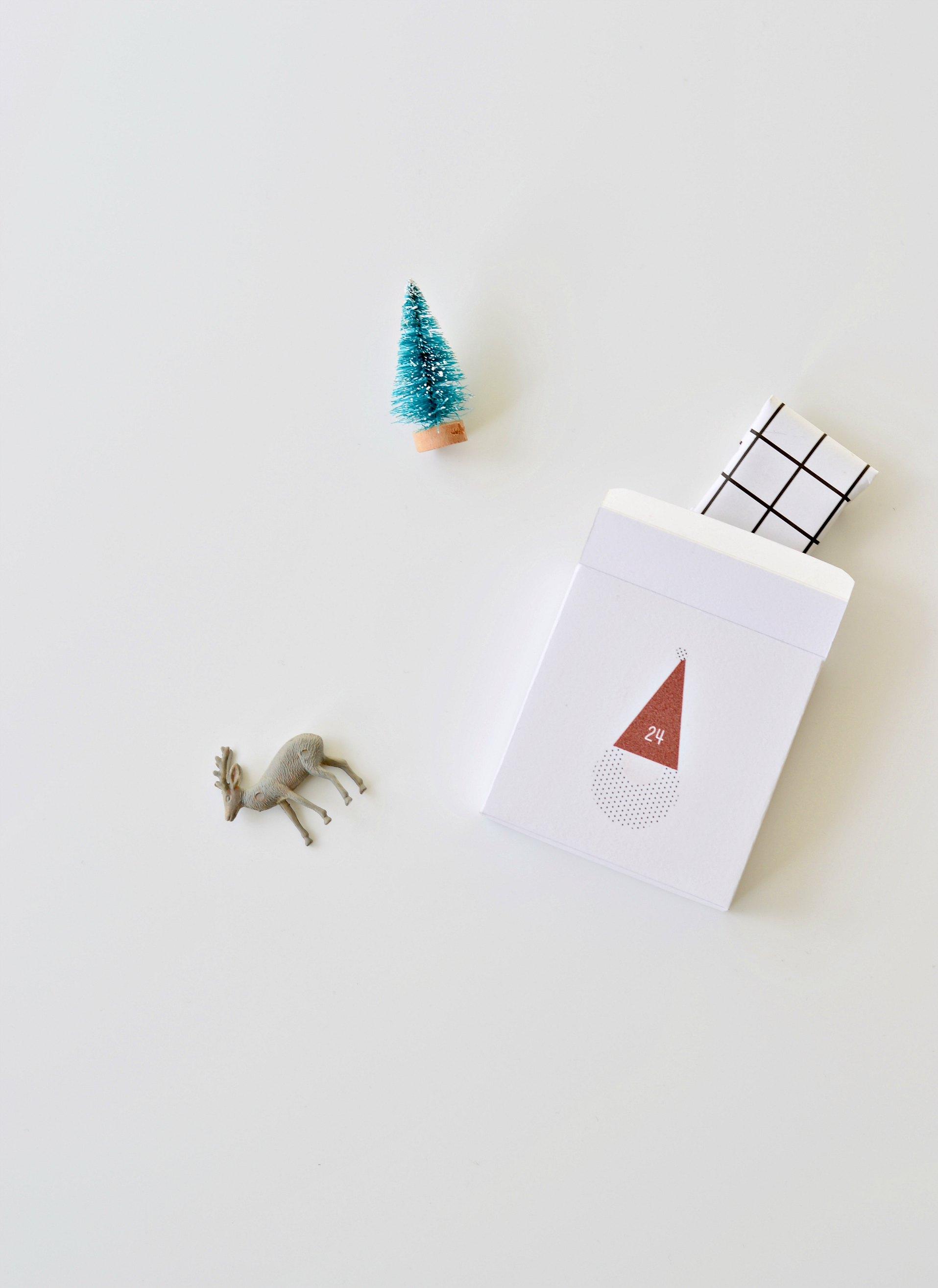 advent calendar printable santa