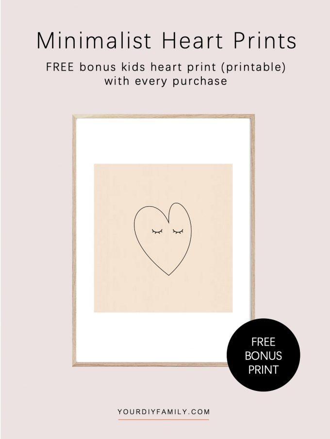 cute heart print for kids room