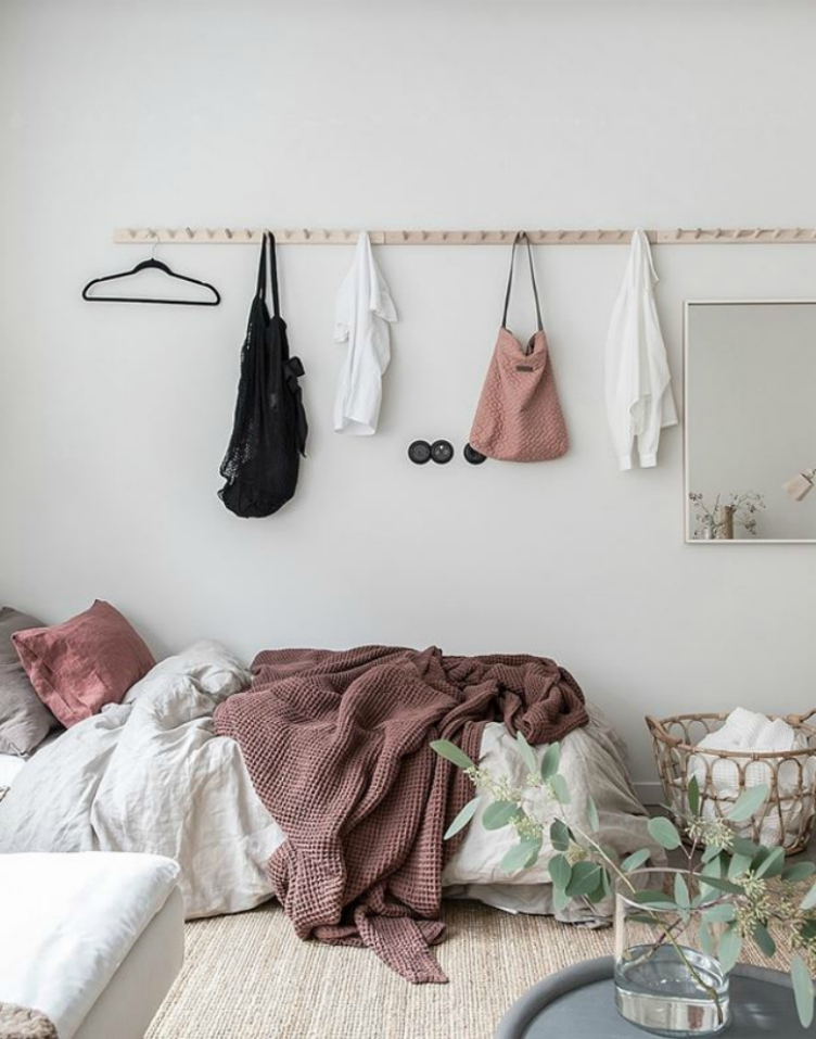wall hooks for small bedrooms