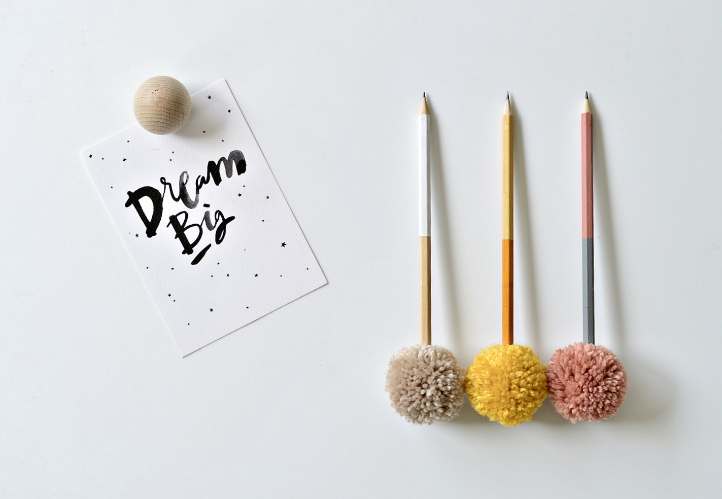 pompom pencil toppers craft