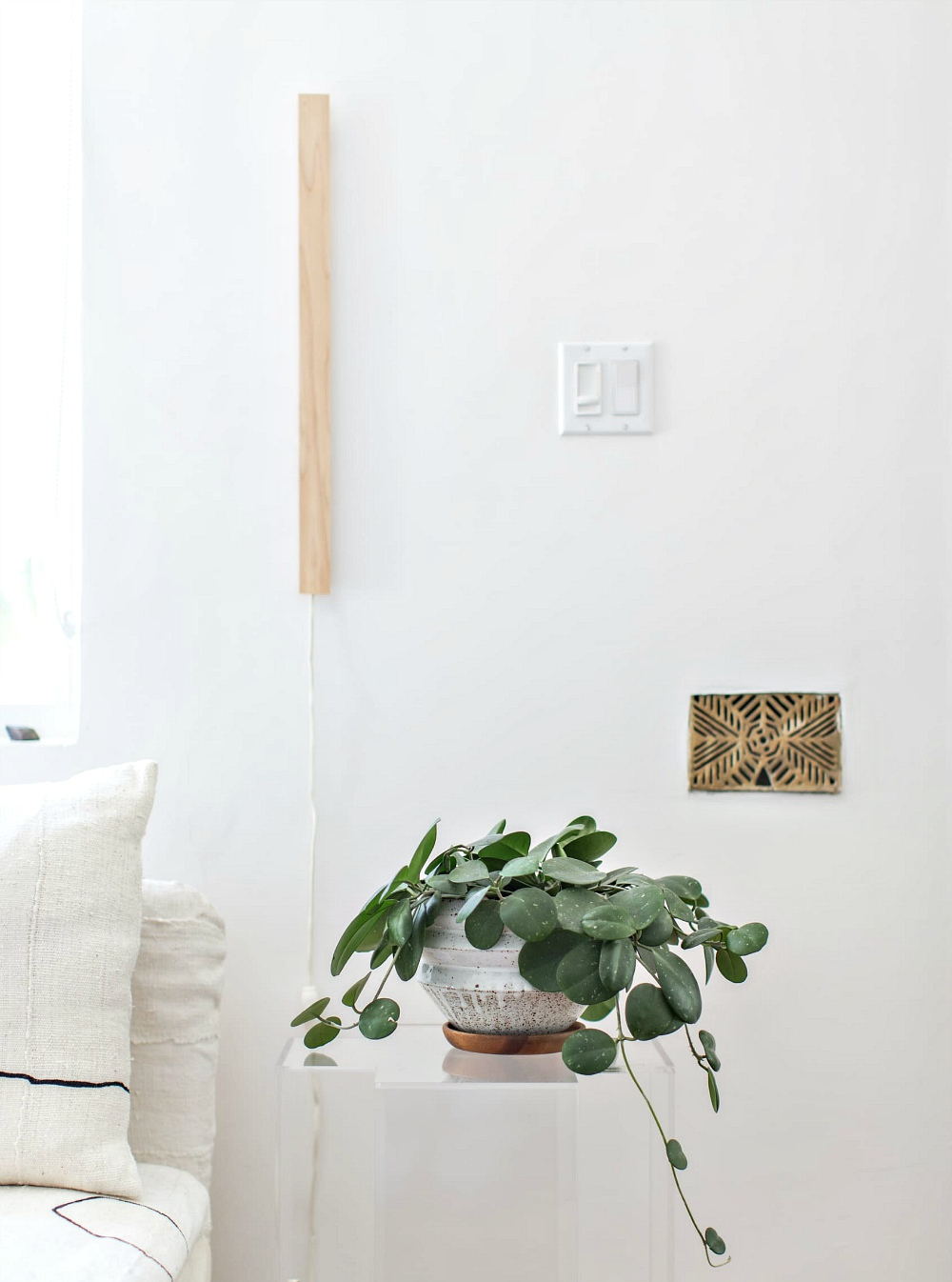 ikea hack wall light minimal