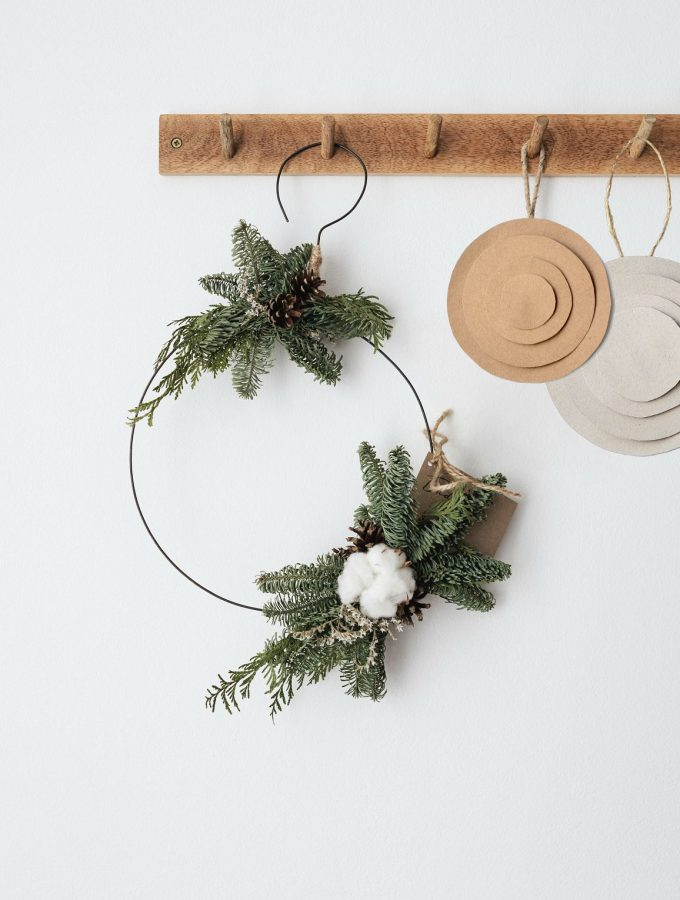 DIY paper Christmas ornaments in modern geometric shapes