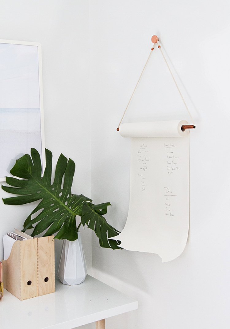 DIY paper roll holder for wall