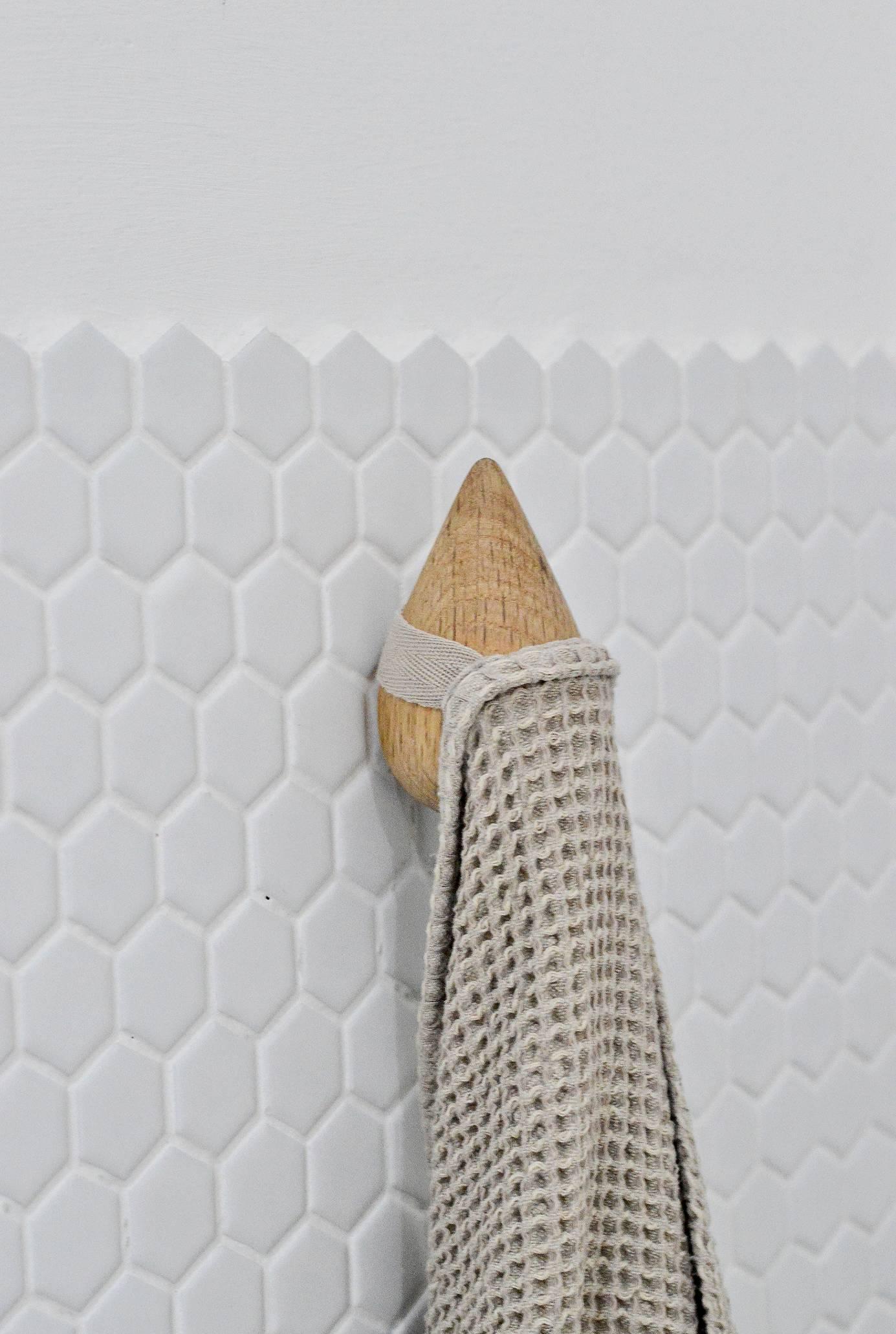 wooden bathroom towel hooks