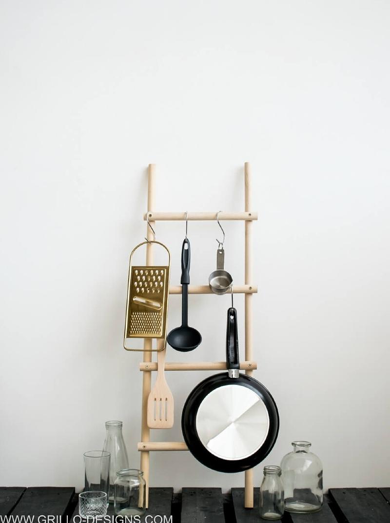DIY kitchen utensil organizer