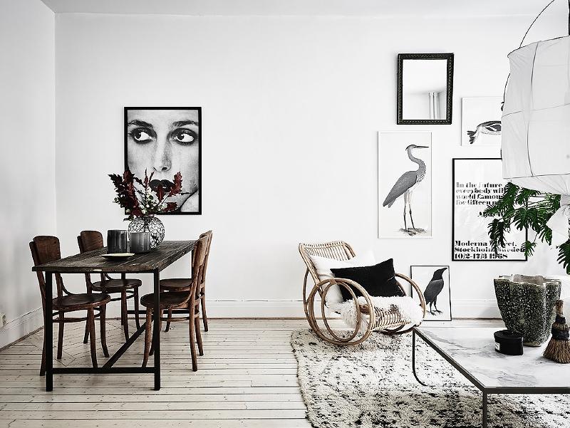 vintage Scandinavian decor living room