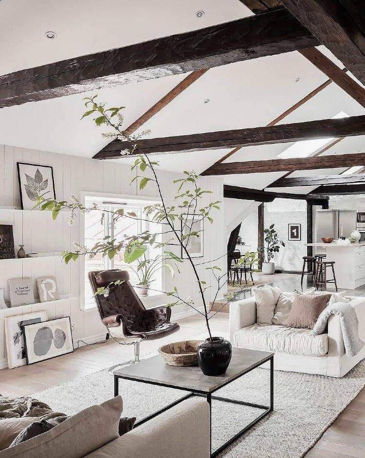 Scandinavian home decor loft apartment