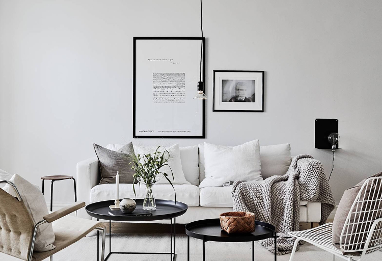 Scandinavian living room lighting idea