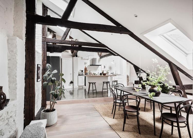Scandinavian open plan living