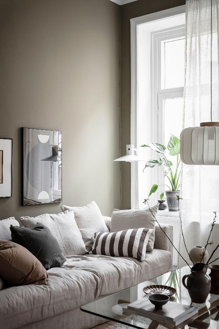 Scandinavian living room color idea