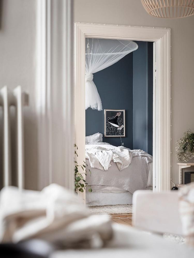 statement lighting in bedroom