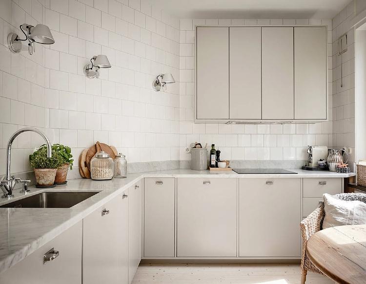 minimal beige kitchen