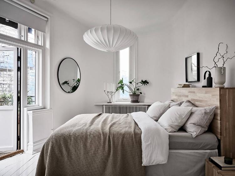 scandinavian style bedroom decor