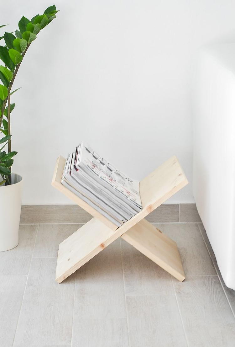 x shaped magazine rack