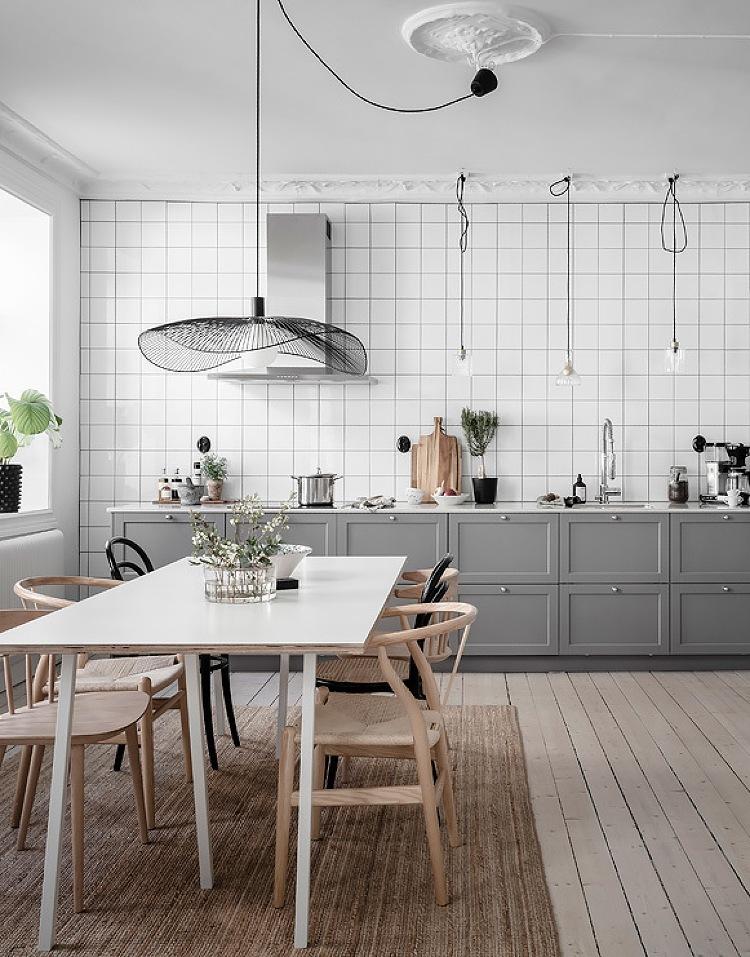 grey shaker kitchen diner