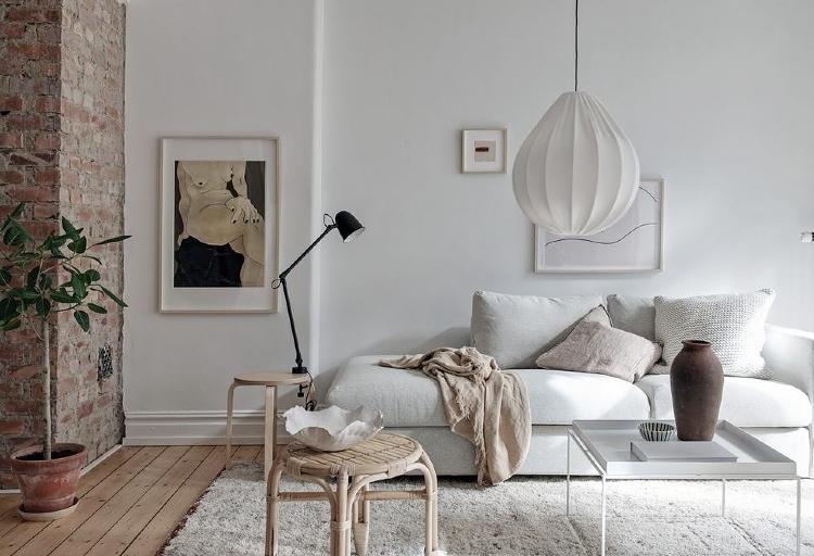 white living room Scandinavian