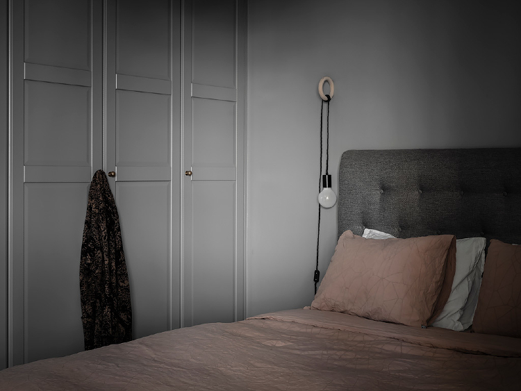 cozy grey bedroom scandinavian