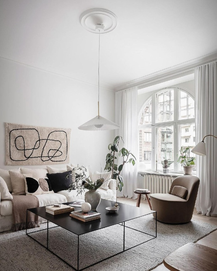 example of texture in living room