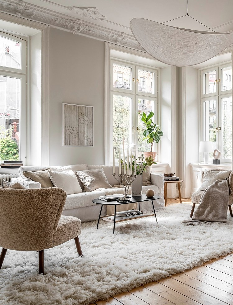living room with different textures