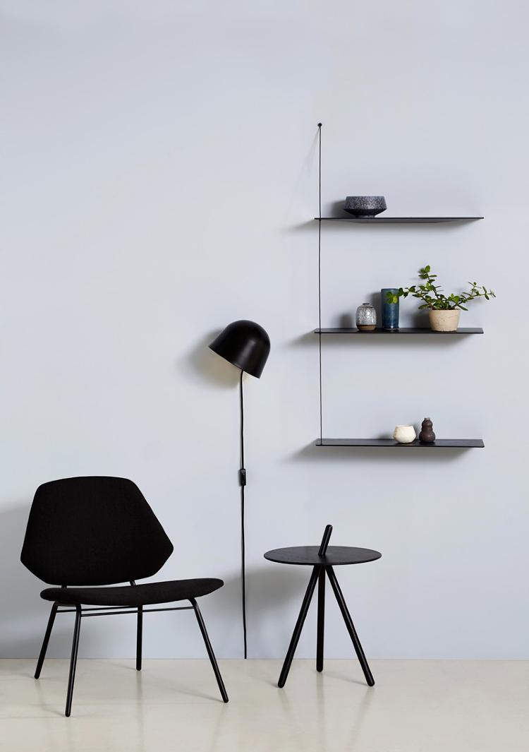 minimalist wall shelves