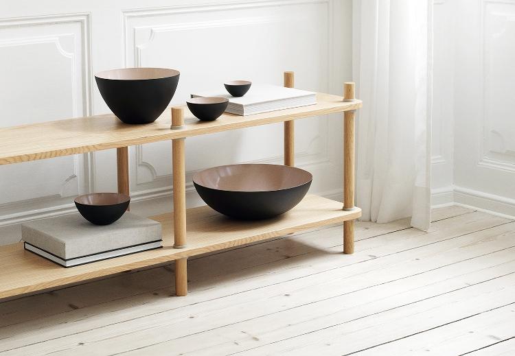 modern Scandinavian shelving unit