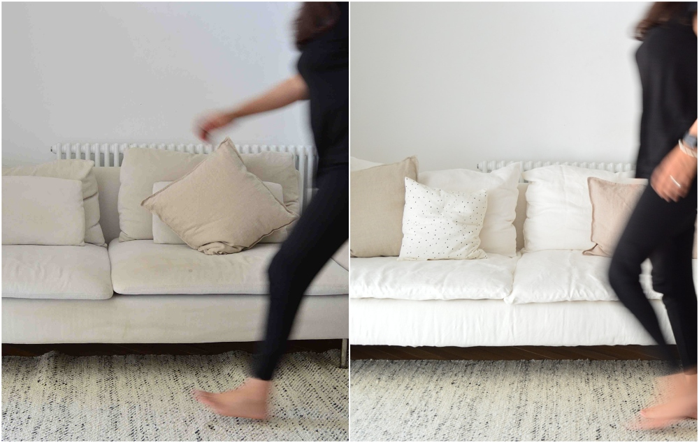 sofa makeover before after