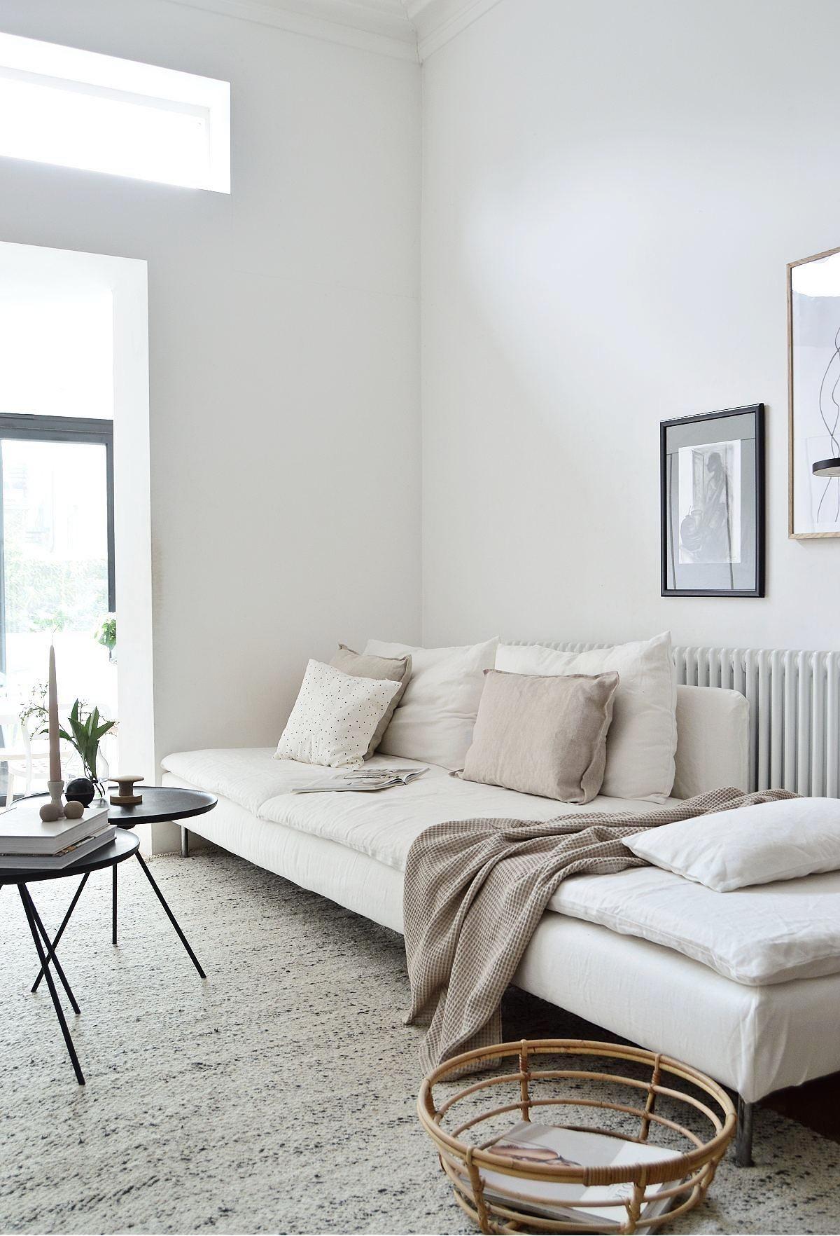 white linen slipcover for sofa