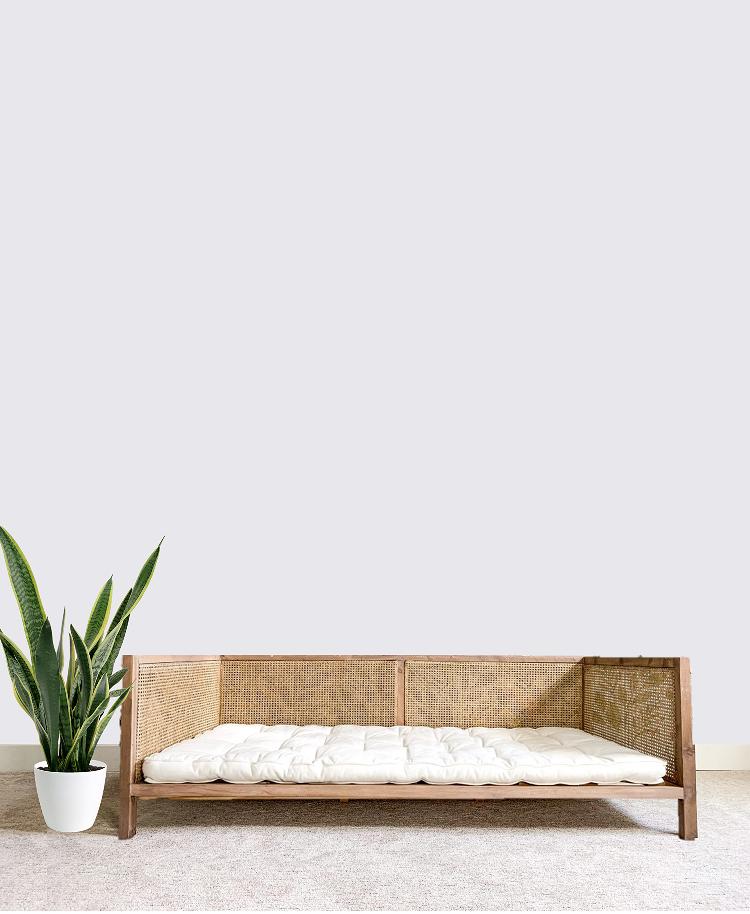 DIY cane daybed sofa